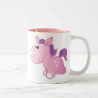 Cute Pony Two-Tone Coffee Mug