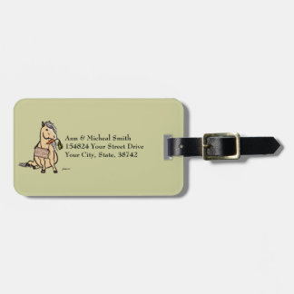 Cute Pony Will Work For Carrots Luggage Tag