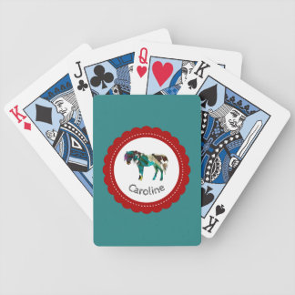 Cute Pony with Blue and Red Bicycle Playing Cards