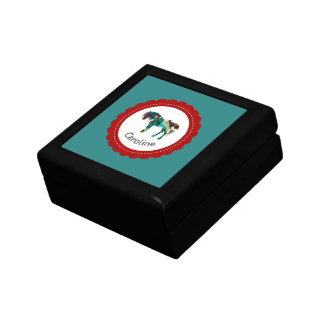 Cute Pony with Blue and Red Gift Box