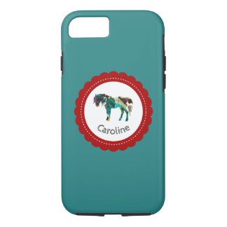 Cute Pony with Blue and Red iPhone 8/7 Case