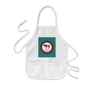Cute Pony with Blue and Red Kids Apron