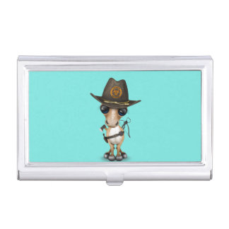 Cute Pony Zombie Hunter Business Card Holder