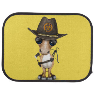Cute Pony Zombie Hunter Car Mat