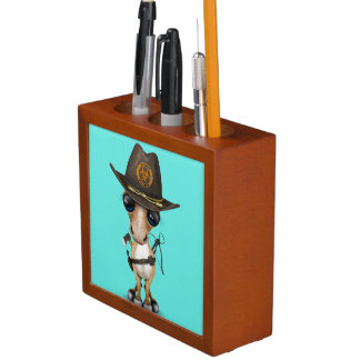 Cute Pony Zombie Hunter Desk Organizer