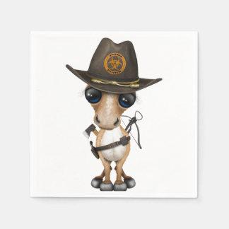 Cute Pony Zombie Hunter Disposable Napkin
