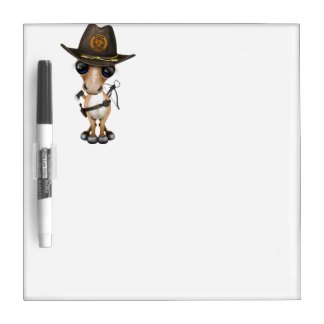 Cute Pony Zombie Hunter Dry Erase Board