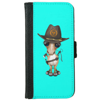 Cute Pony Zombie Hunter iPhone 6 Wallet Case