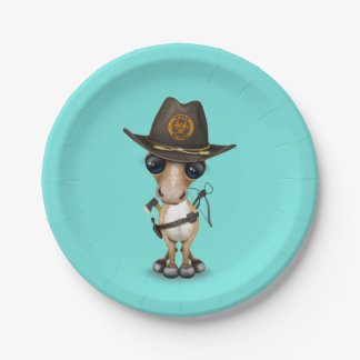 Cute Pony Zombie Hunter Paper Plate