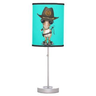 Cute Pony Zombie Hunter Table Lamp