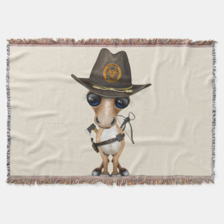 Cute Pony Zombie Hunter Throw Blanket