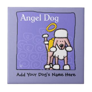 Cute Poodle Angel Dog Memorial Tiles