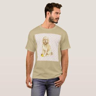 Cute Poodle Dog Perro Watercolor Rare T-Shirt
