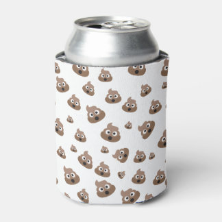 Cute Poop Emoji Pattern Can Cooler