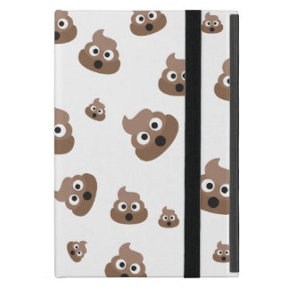 Cute Poop Emoji Pattern Case For iPad Mini
