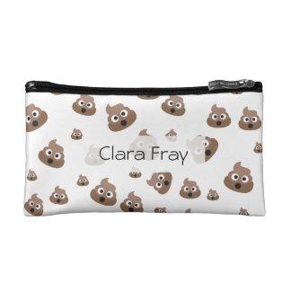 Cute Poop Emoji Pattern Cosmetic Bag