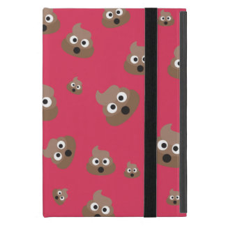 Cute Poop Emoji Pattern Cover For iPad Mini