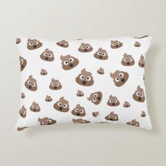 Cute Poop Emoji Pattern Decorative Pillow