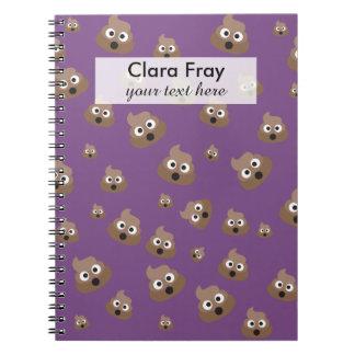 Cute Poop Emoji Pattern Note Book