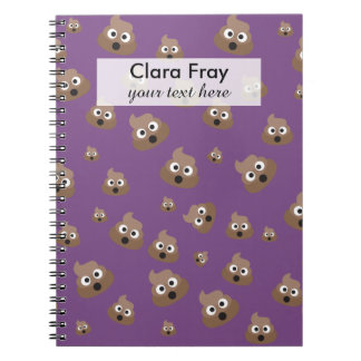 Cute Poop Emoji Pattern Notebook