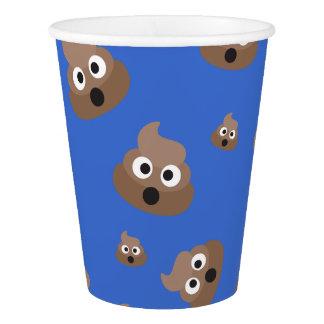 Cute Poop Emoji Pattern Paper Cup