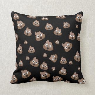 Cute Poop Emoji Pattern Throw Pillow