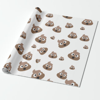 Cute Poop Emoji Pattern Wrapping Paper