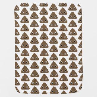 Cute Poop Pattern - Adorable Piles of Doo Doo Baby Blanket