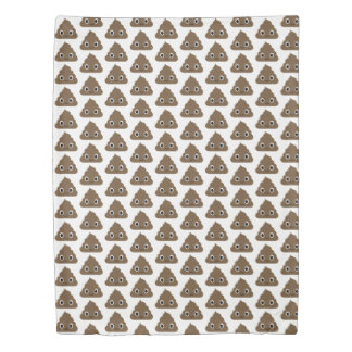 Cute Poop Pattern - Adorable Piles of Doo Doo Duvet Cover