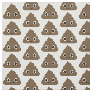 Cute Poop Pattern - Adorable Piles of Doo Doo Fabric