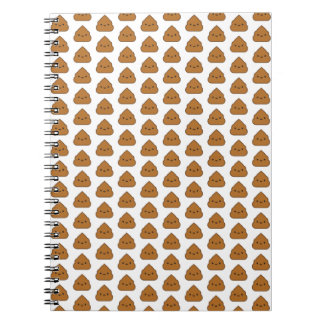 Cute Poop Pattern Spiral Notebook