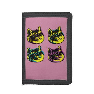 Cute Pop Art Cats Heavy Breathing Intensifies Trifold Wallet