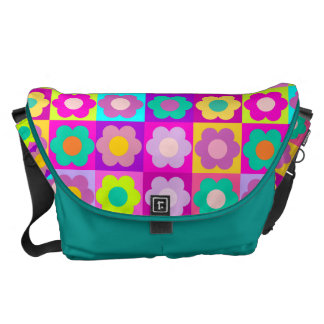 Cute pop art floral commuter bags