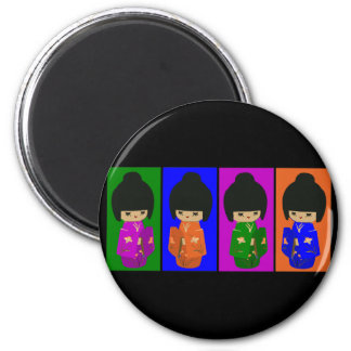 Cute Pop Art Kokeshi Dolls Magnet