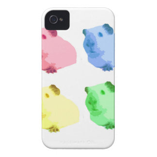 Cute Popart Cutout Green Pink Yellow Guinea pigs iPhone 4 Case