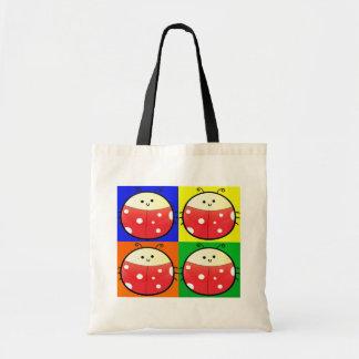 Cute Popart Ladybird Tote Bag