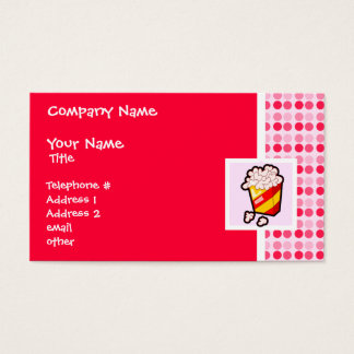 Cute Popcorn Business Card