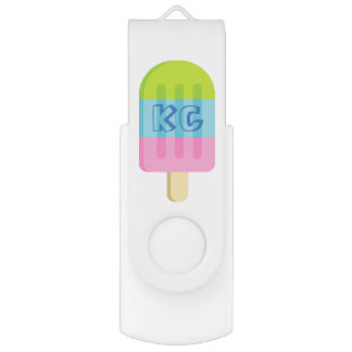 Cute popsicle ice cream USB flash drive stick