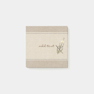 Cute Post It In Style With Gold Cello Post-it Notes