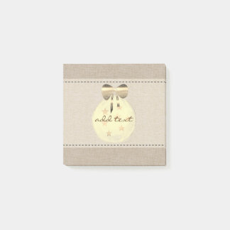 Cute Post It In Style With Gold Christmas Ornament Post-it Notes
