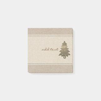Cute Post It In Style With Gold Christmas Tree Post-it Notes