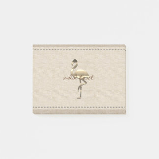 Cute Post It In Style With Gold Flamingo Post-it Notes