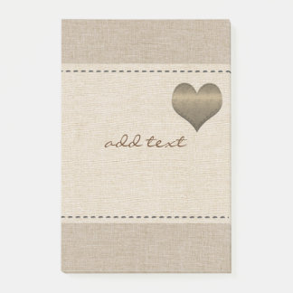 Cute Post It In Style With Gold Heart Love Post-it Notes