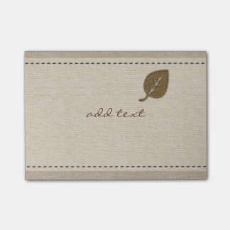 Cute Post It In Style With Gold Leaf Linen Post-it Notes