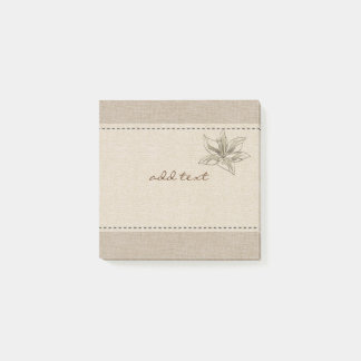 Cute Post It In Style With Gold Lily Post-it Notes