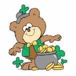 cute pot of gold irish st paddy boy teddy bear photo cut outs