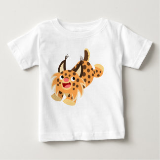 Cute Prankish Cartoon Bobcat Baby T-Shirt