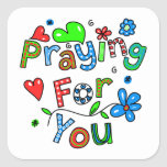 Cute Praying For You Greeting Text Expression Sticker