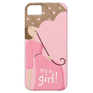 Cute Pregnant Mom to be It's a GIRL! Case For The iPhone 5