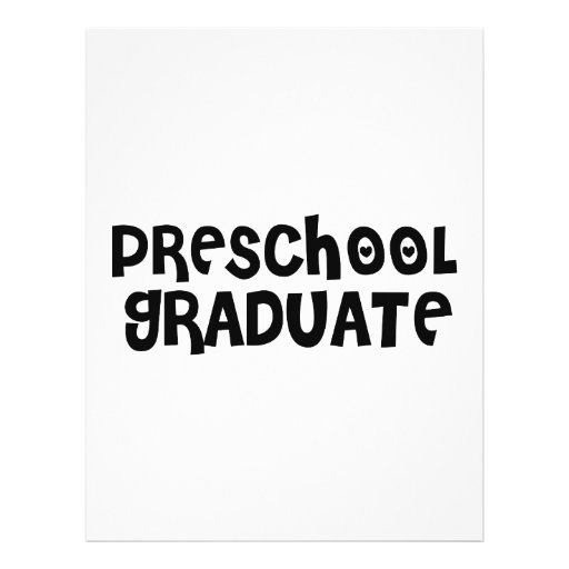 Cute Preschool Graduation Gifts Customized Letterhead